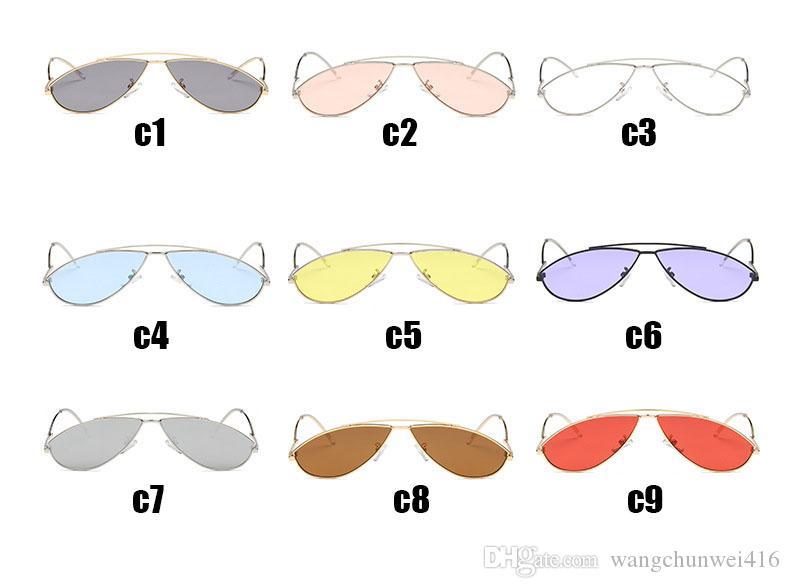 Fashion metal cool Sunglasses for women frames Pearl Decoration Legs Fashion Sun Glasses Ladies Clear Shades UV400