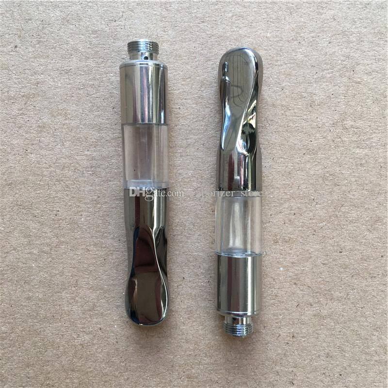 Updated 510 o pen thick oil vape carts e cig atomizer new G2 cartridge wickless co2 atomizer with Screw metal tip
