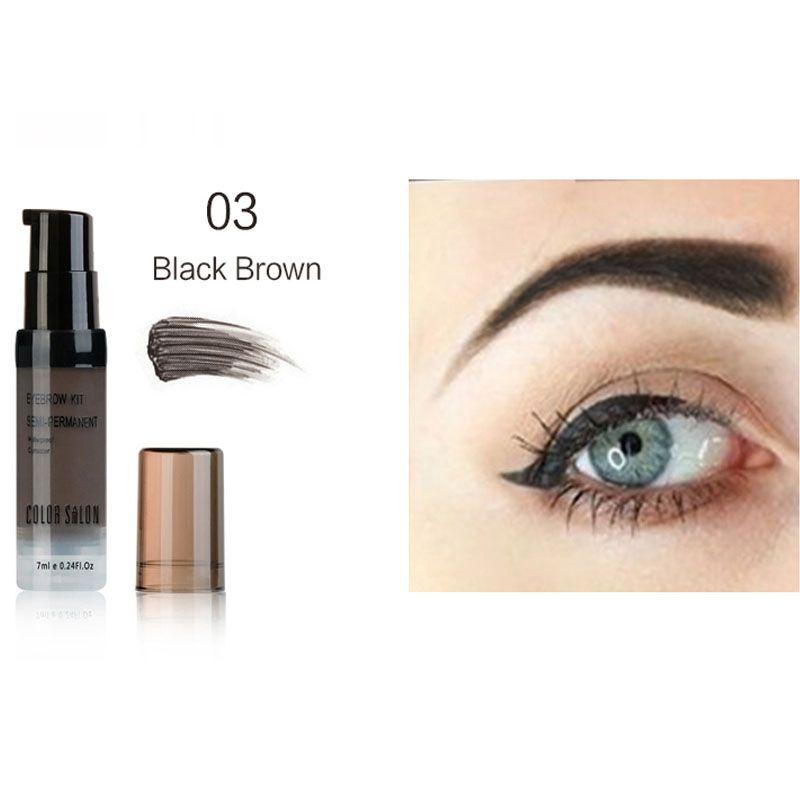 Color Salon Henna Eyebrow Dye Gel Waterproof Makeup Shadow For Eye Brow Wax Long Lasting Tint Shade Make Up Paint Pomade Cosmetic