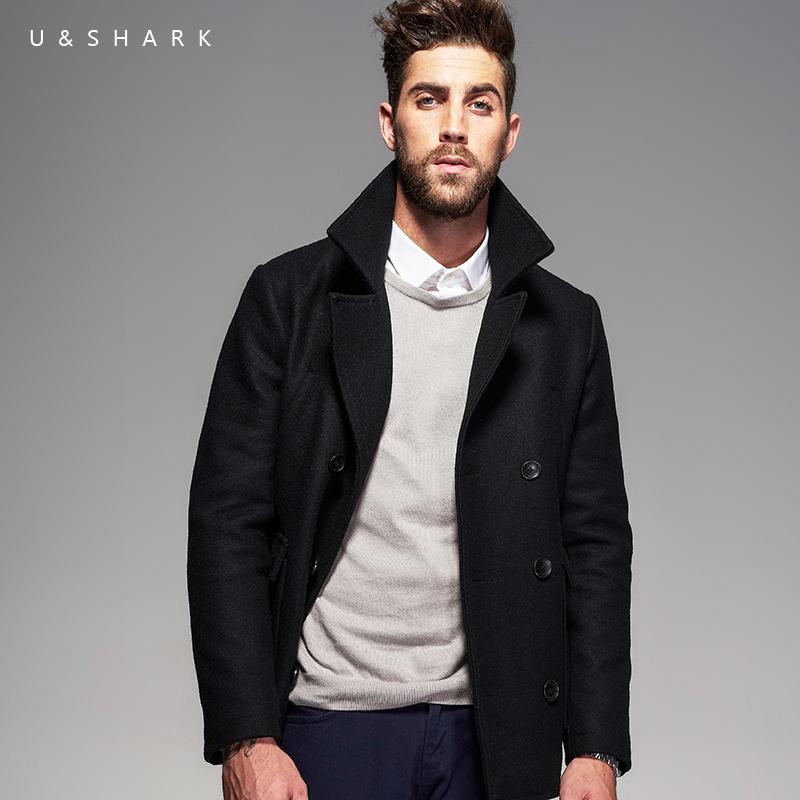 U SHARK Winter New Wool Coat Men Woolen Jackets Men Fashion Outerwear High  Quality Casual Jackets Overcoat Woolen Pea Coat Male UK 2019 From Weilad ab2928c08