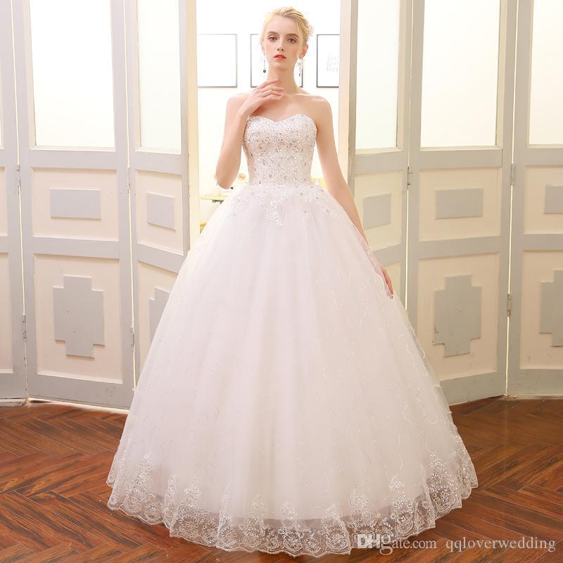 newest 06cbd 32aa0 Abiti da sposa economici in negozio Plus Size Ball Gown Wedding Guest