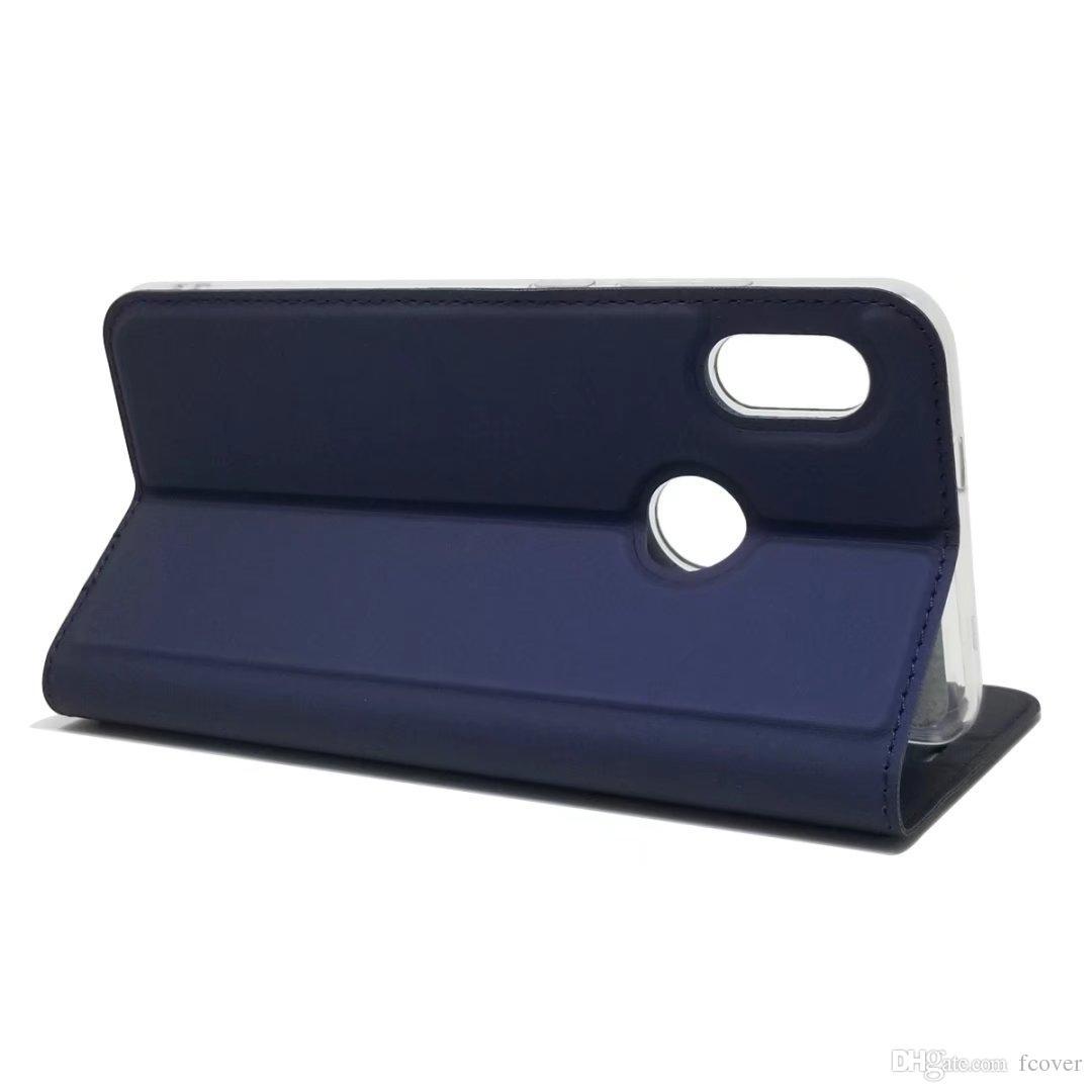 Custodia a portafoglio in pelle Xiaomi Redmi Note 5 Pro / Mix 2s / Mix 2 / 5X / Redmi 5 Plus / Mi A1 Custodia a libro magnetico Custodia protettiva a conchiglia