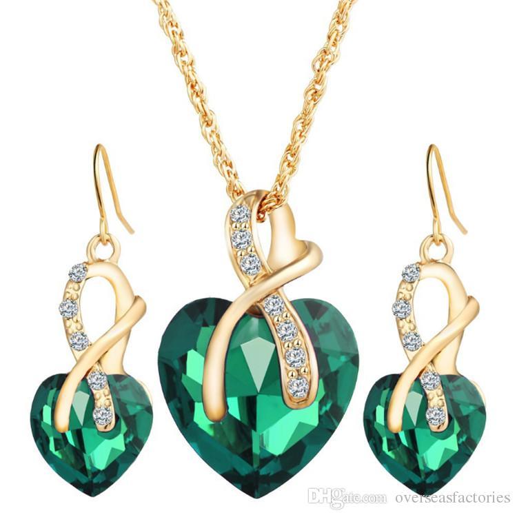 Cheap Pendant Necklace Dove Wholesale Swarovski Water Drop Pendant Necklace a6a57240dbff