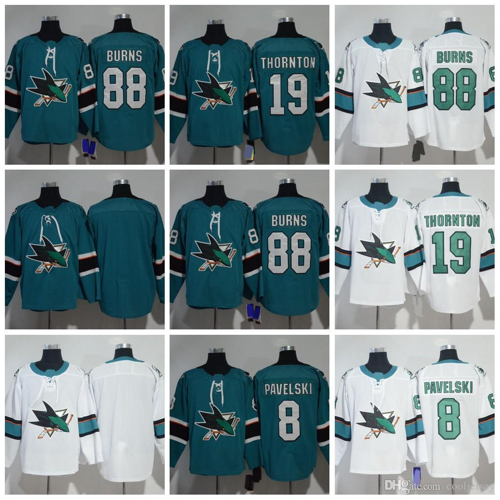 15e2ee74 ... coupon code for 2019 2018 hockey san jose sharks hockey jerseys 8 joe  pavelski 88 brent