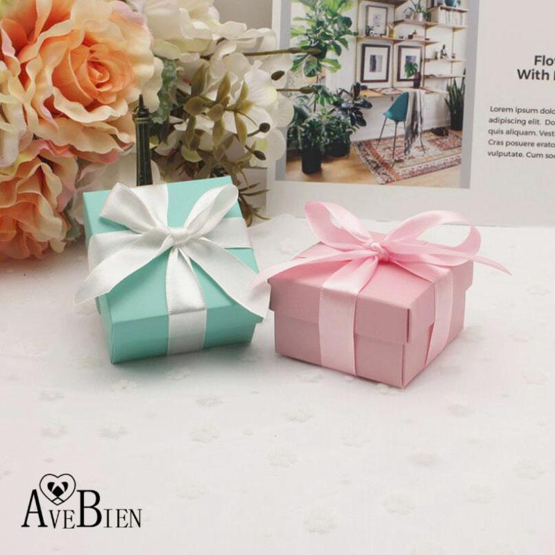 avebien new tiffany pink paper candy box baby shower valentines day wedding favors party supplies paper gift boxes with ribbon christmas wrapping paper - Pink Christmas Wrapping Paper