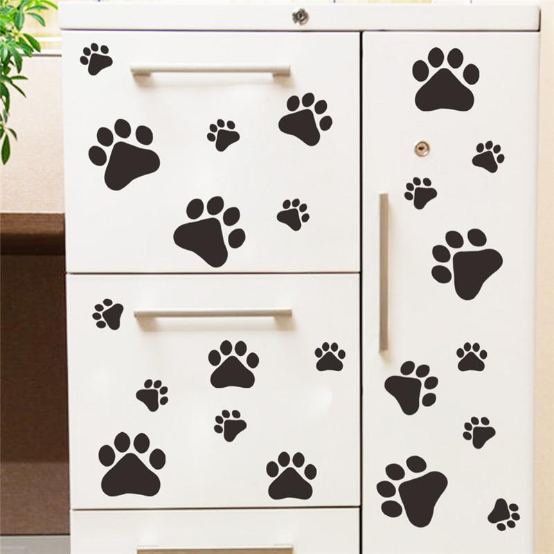 Cute Dog Prints Wall Stickers Home Decor For Kids Rooms Decoration