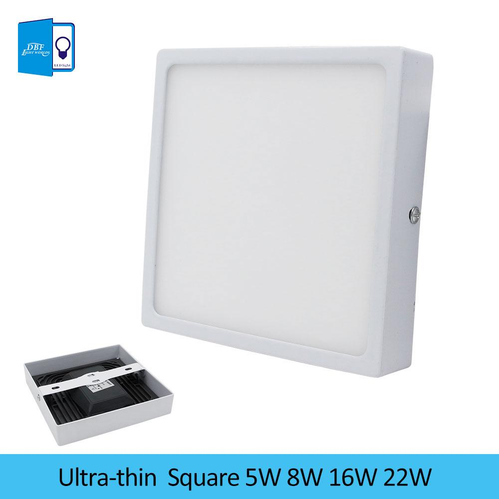 Square led panel light 5w 8w 16w 22w surface mounted led ceiling square led panel light 5w 8w 16w 22w surface mounted led ceiling lights down ac85 265v downlight lampada for bathroom light best downlights down light mozeypictures Gallery