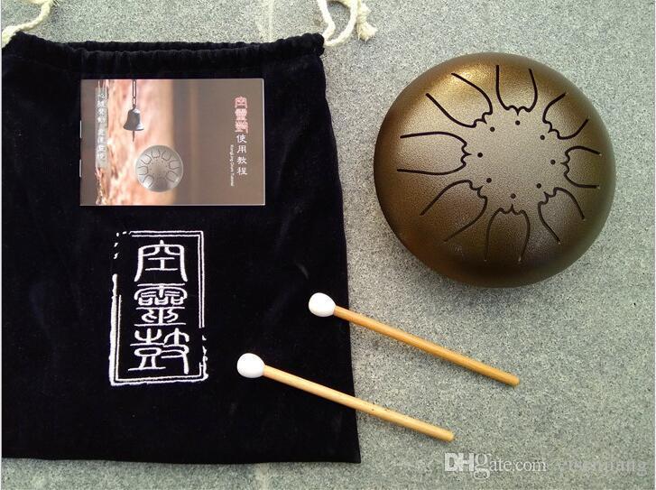 Top Quality Steel Tongue Drum natural nota musical Frete grátis pendurar tambor para crianças adulto Instrumentos de Percussão