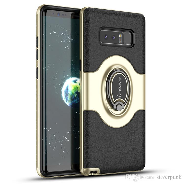 the best attitude e5f8a 36749 iPaky Case For Samsung Galaxy Note 8 Ring Stand Holder Magnetic function  Back Cover PC TPU Drop-proof SM Note8 Cases With Package In Stock
