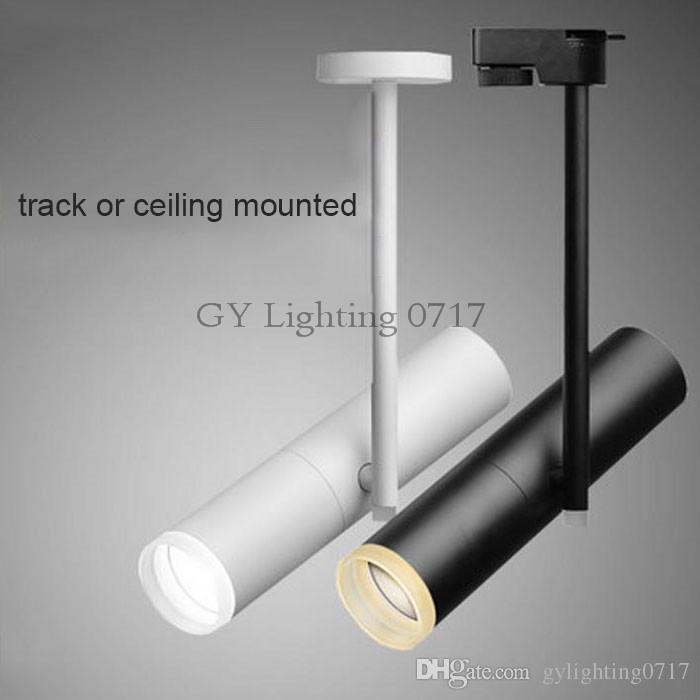 2019 Modern 5w 7w 10w 12w Led Rail Spotlights White Black Hanging