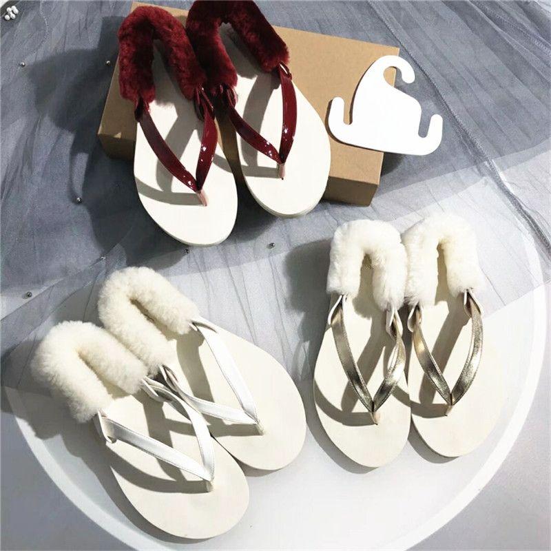 c394767226e8 2018 Summer Flip Flops Women Fashion Outdoor Red Sheepskin Woman ...