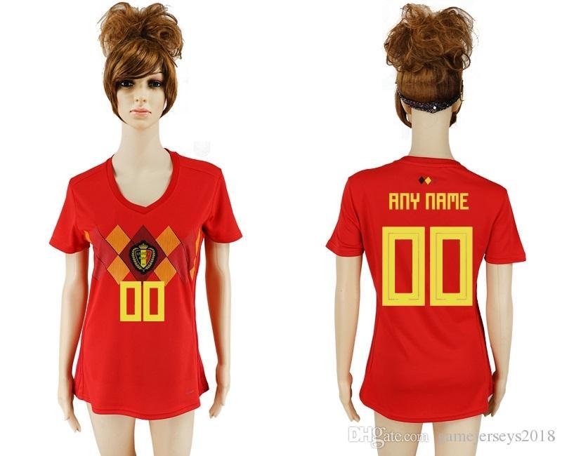 Soccer Jersey Women World Cup Belgium Training De Futbol Home Retro  Uniforms Kit Jerseys 2018 World Cup Jersey Cheap Womens Wholesale Kid UK  2019 From ... 3d9e8038f0