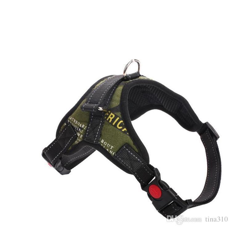 Haustier Hund Weste Harness Leine Halsband Set Kein Zug Einstellbar Klein Mittel Groß XL T1I421 7 farben 30 stücke