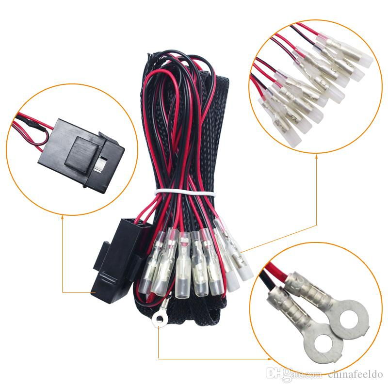 Admirable 2019 Universal 4 Connector Wiring Harness Power Adapter Kits For Car Wiring Digital Resources Bocepslowmaporg