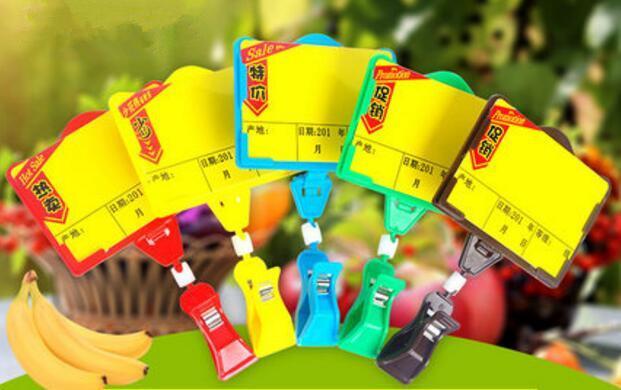 Venda quente POP publicidade cartaz preço tag quadro pop preço de frutas vegetais clipe titular para supmarket frete grátis