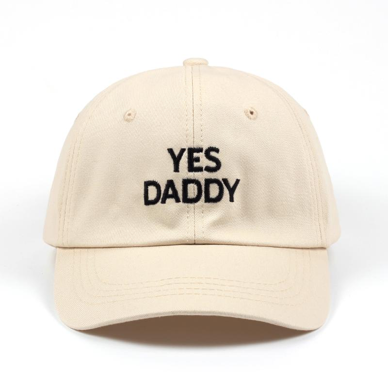 e8d1f6837d092 High Quality New Yes Daddy Adjustable Golf Cotton Cap Dad Hat Black Beige Baseball  Cap Men Women Hip Hop Snapback Hats 2018 Make Your Own Hat Basecaps From ...