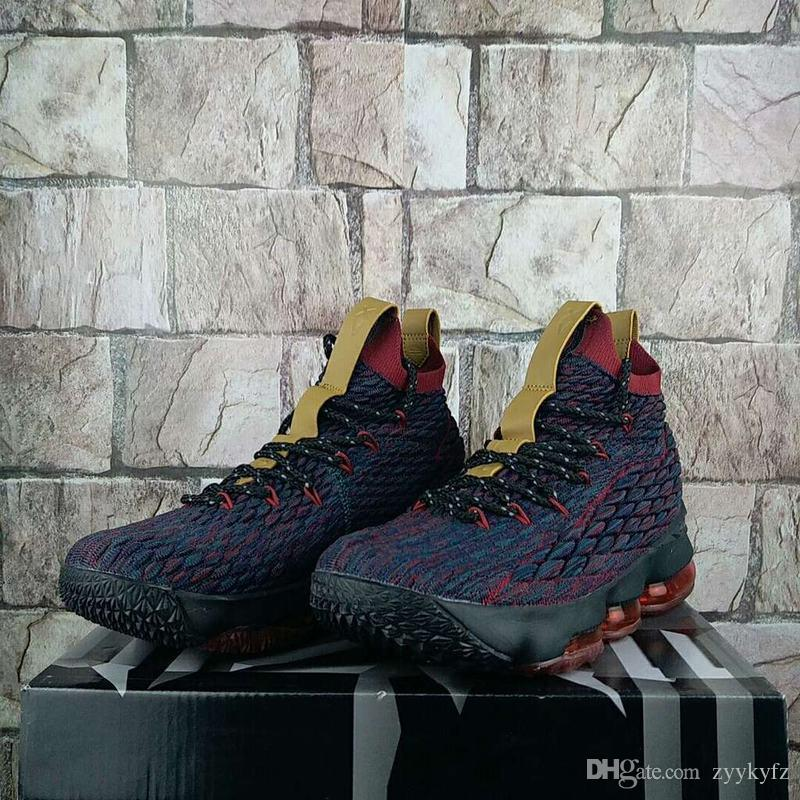 separation shoes f566b b6918 High Quality Athletic LeBron 15 New Heights Basketball Shoes Men Dark  Atomic Teal Ale Brown Team Red Sneakers