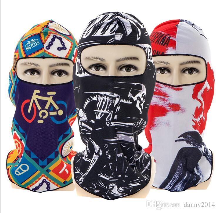 3D print fashion bike cycling masks unisex dustproof Caps Multi-functional face masks outdoor sport Tactical Hood Anti UV hiking swing cap