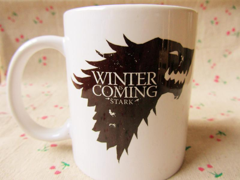 New Quality Ceramic Coffee Mug Cup Of A Song of Ice and Fire Game Thrones House Stark Winter is Coming