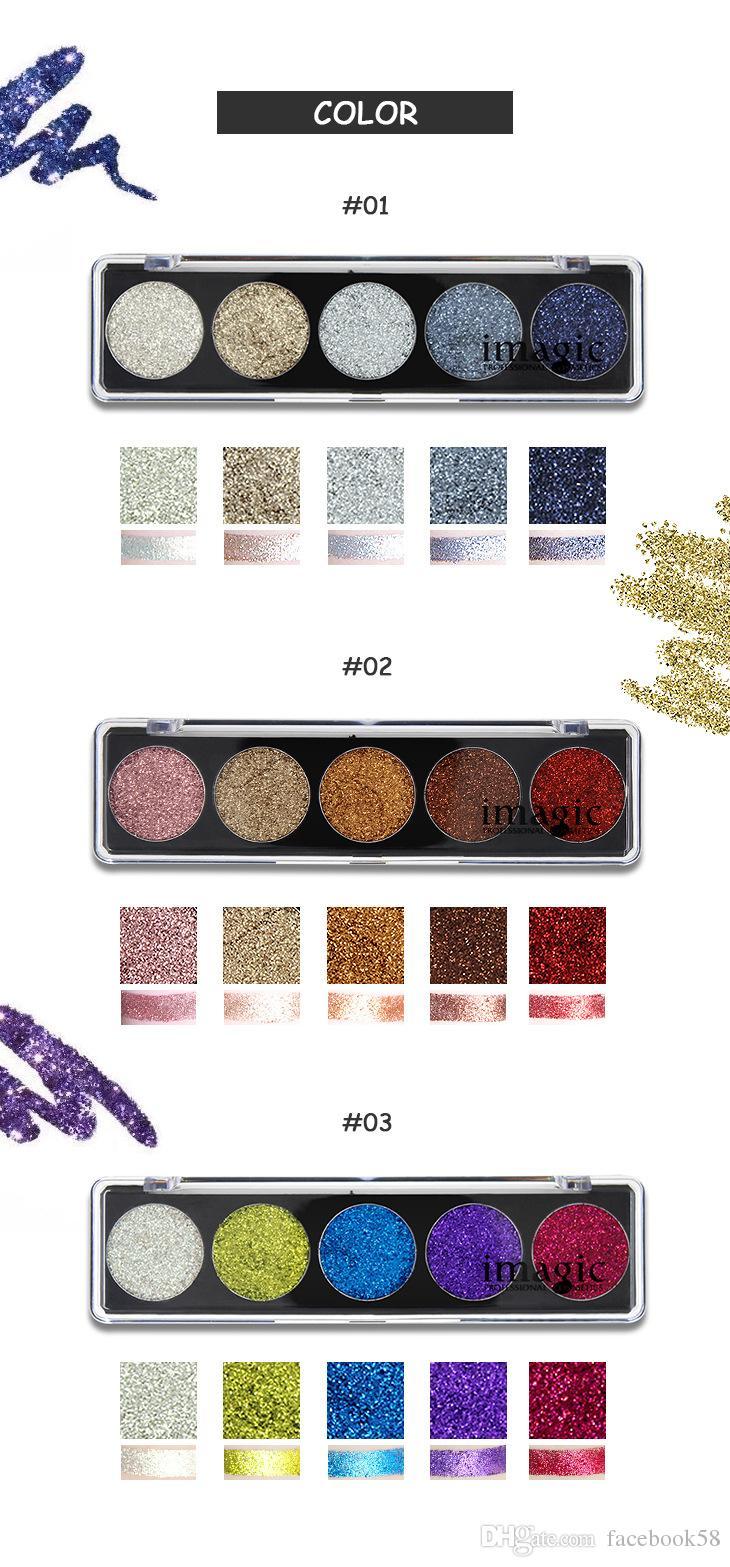 Maquillaje de moda Paleta de sombras de ojos Profesión Comestic Nueva marca IMAGIC Maquillaje es Brillo Sombra de ojos en polvo