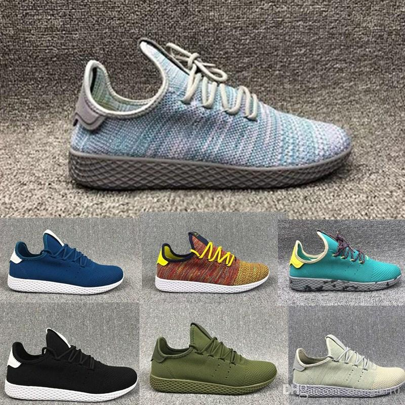 pictures cheap price shopping online sale online Hot 2018 Fashion mens Casual shoes STAN SMITH Tennis HU Primeknit men women Running Shoes Sneaker breathable Boost Runner sports Shoes JECfPgMFN