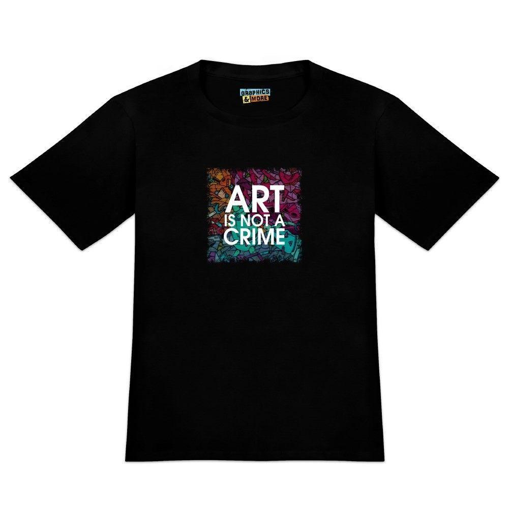 45d78460 Art Is Not A Crime Graffiti Men'S Novelty T Shirt Funny Unisex Casual Cool Tshirt  Designs Create T Shirt From Fantees, $12.96| DHgate.Com