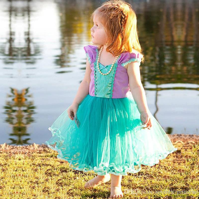 2019 Girl Kids Fancy Party Birthday Wear Children GirlS Cosplay Costume Clothing Infant Outfis Toddler Princess Sundress For 2 4 6T From Seventh