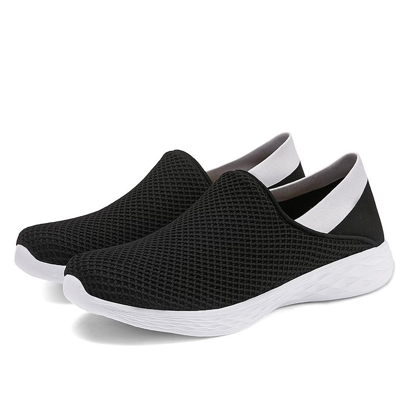6111c78864e4 Size 35-46 Female Slip-on Air Mesh Casual Shoes Lady Breathable Soft Sole  Shoes Women Comfort Sneakers Woman Flat Heels Shoe Online with  60.33 Piece  on ...