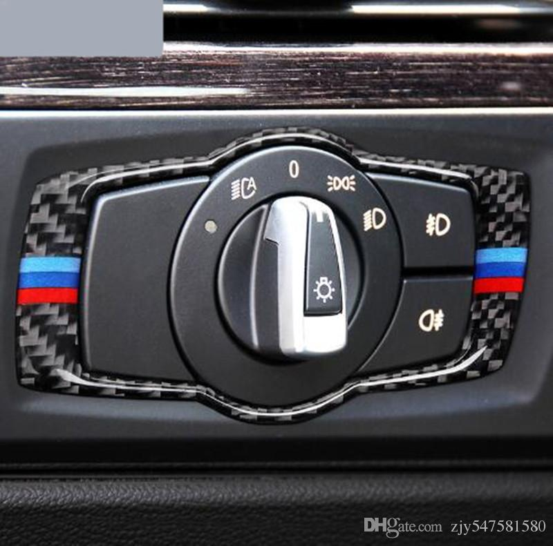 2018 For Bmw E90 E92 Carbon Fiber Car Headlamp Switch Trim Refit ...
