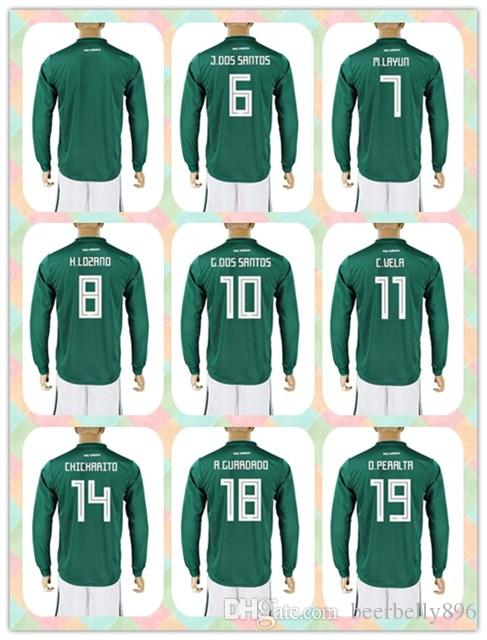0225edb5f90 reduced adidas j. dos santos 6 mexico official mens home soccer jersey l s  5c6a5 e7a33; ireland customized uniforms kit 2018 world cup country jersey  mexico ...