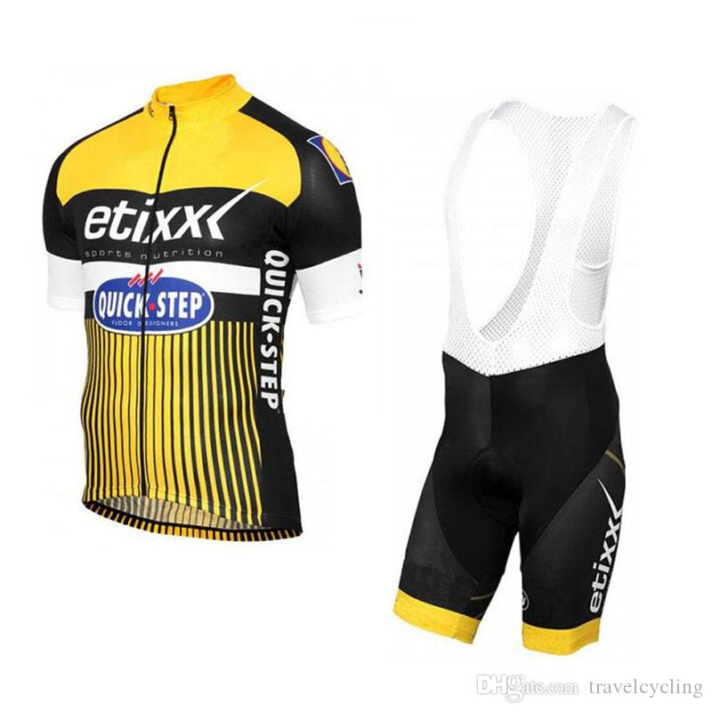 Quick Step 2018 Cycling Short Sleeve Jersey Set Summer Breathable ... 10e9ee986