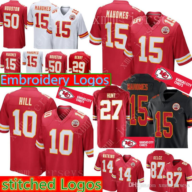1e787fba1e9 Kansas City Chiefs 15 Patrick Mahomes Jersey Mens 10 Tyreek Hill 27 ...