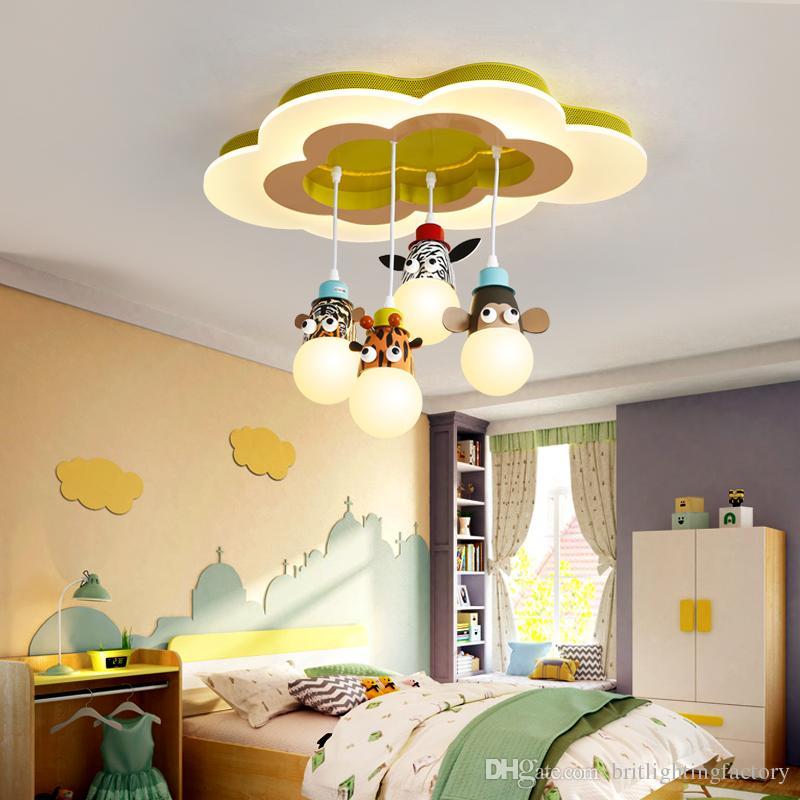 Compre Habitación Infantil Lámpara Colgante De Dibujos Animados