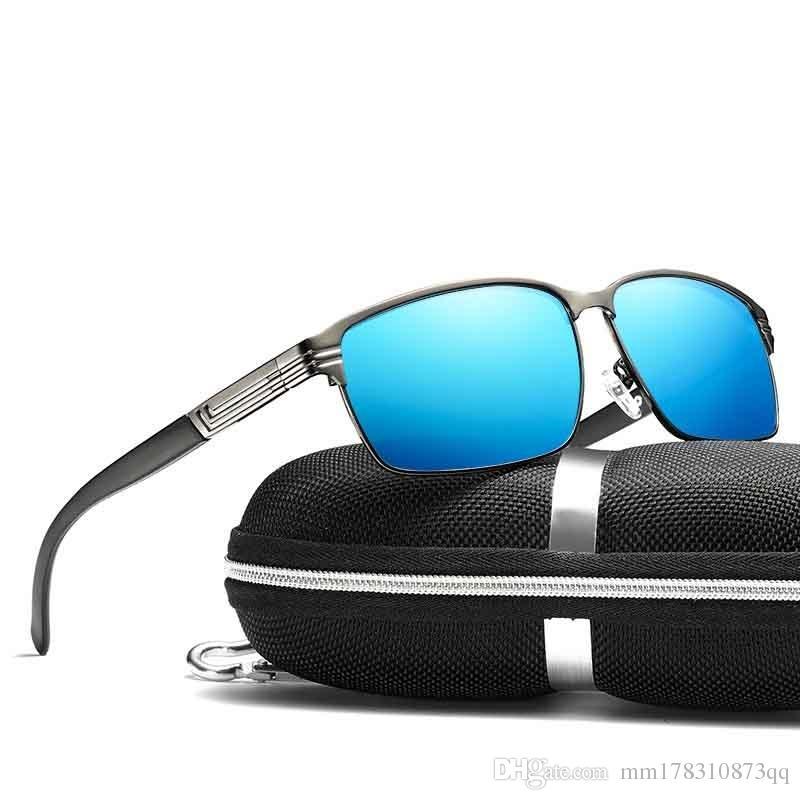 d6682c1059 Compre Hombres De Moda Gafas De Sol Polarizadas Hombres Espejos De  Conducción Puntos De Recubrimiento Gafas De Montura Negra Gafas De Sol  Masculinas Gafas ...
