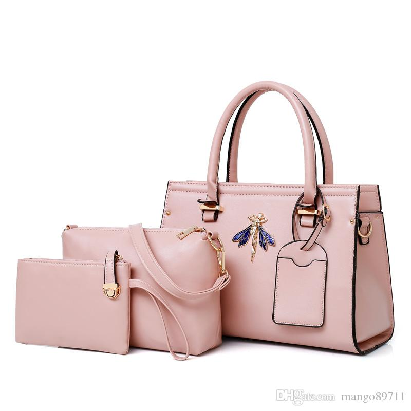 3ab175618db9 New Luxury Brand Handbags Top Brand Luxury Leaher Women Handbag Top Handle  Purse Ladies Shoulder Bag Pink Color Mens Shoulder Bags Shoulder Bags For  Men ...