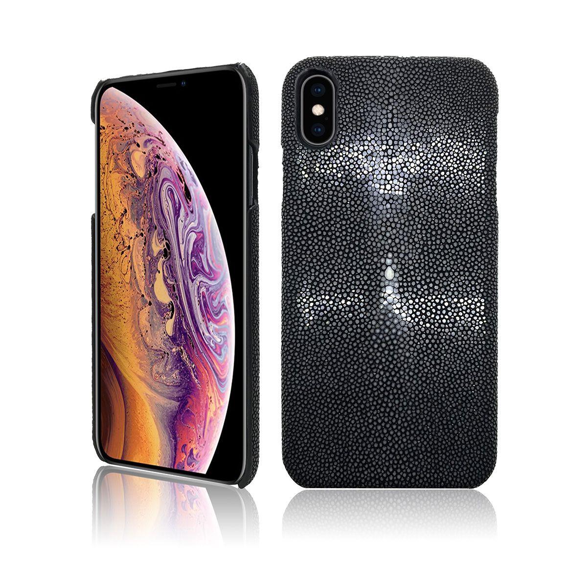 ef31ace1a17 Accesorio Para Celulares Funda De Lujo Para IPhone Xs Max 6.5 Hecho A Mano  De Piel De Raya Genuina Protección De Cuerpo Completo Bumper Funda De Cuero  Para ...