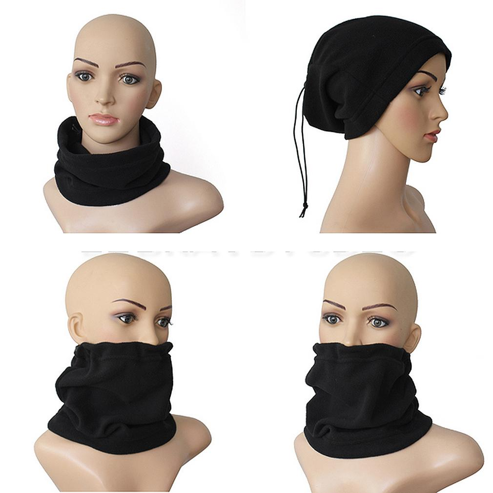 f35c40fd57f58 2019 Unisex Polar Fleece Neck Warmer Thermal Snood Scarf Hat Ski Wear  Snowboarding Black From Milknew