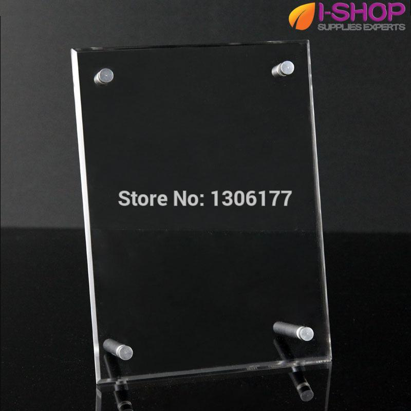 2018 Acrylic Photo Frame Clear 4r Photo Holders With Screws Sign