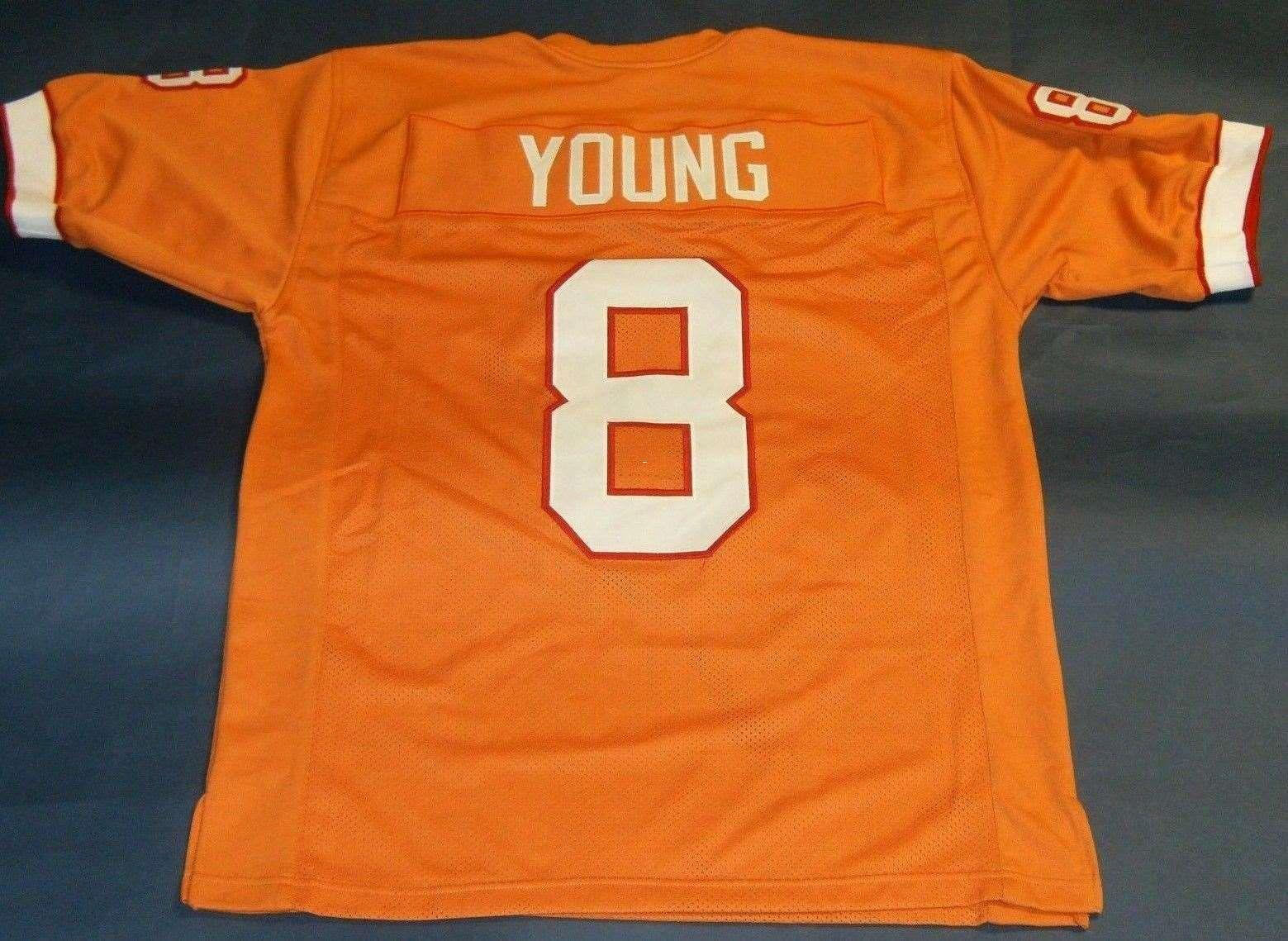 lowest price 6e80e 74227 Cheap retro #8 STEVE YOUNG CUSTOM High-end JERSEY orange Mens Stitching  High-end Size S-5XL Football jerseys