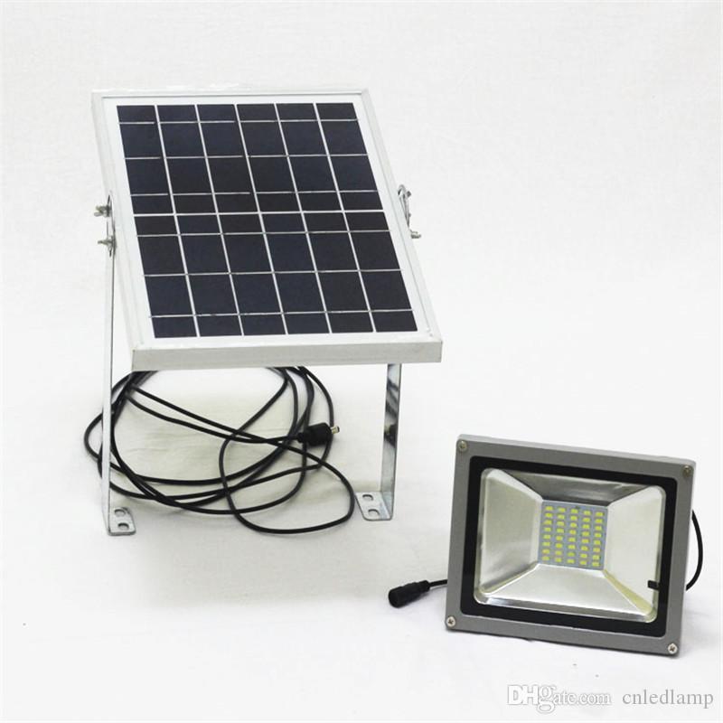 50W Rechargeable Optical Solar Flood Light LED with Optical Sensor Flood Lighting IP65