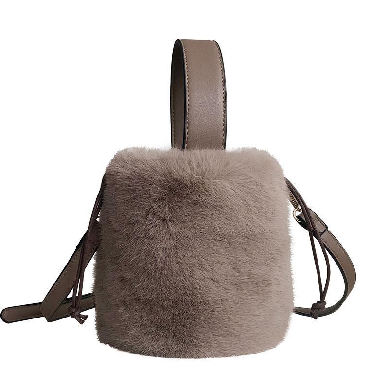 Faux Fur Bag Women 2018 Winter New Cylinder Bucket Bag Vintage Female Small  Shoulder Bags Ladies Little Fur Handbag Wholesale Leather Purse Womens  Purses ... 104e3e6ea21a8