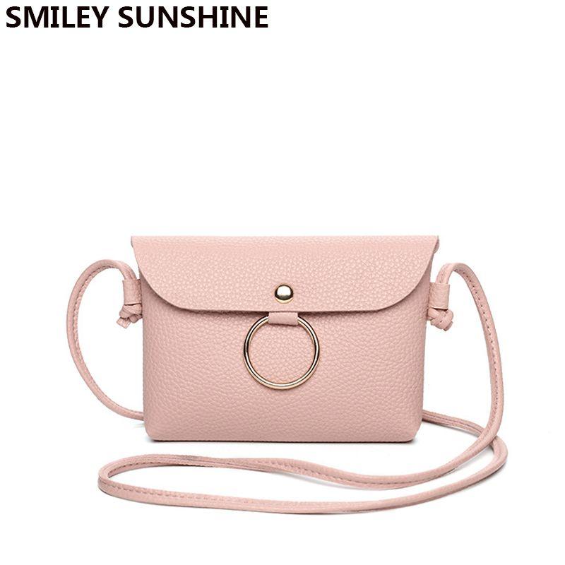 e03715a71c00 SMILEY SUNSHINE Mini Women Cute Handbags Crossbody Messenger Bag Female PU  Leather Small Sling Shoulder Bags Purses Phone Bag