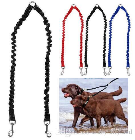 2018 Walk 2 Two Dogs Leash Pet Dog Coupler Leash Double Dog Walking Lead  Bungee Elastic Two Dogs Leash Splitter Top Quality From Crazyfairyland, ...
