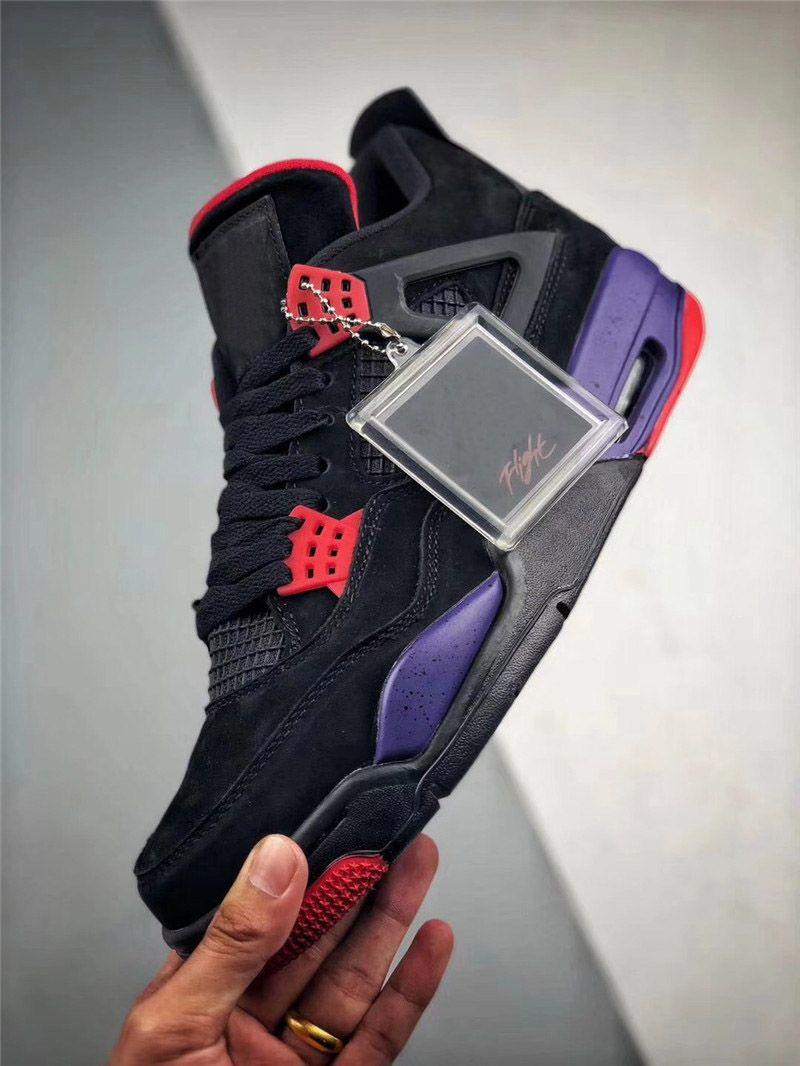 Best Authentic 2018 4 Drake NRG Raptors 4S IV Scarpe Da Basket Sneakers Uomo Nero Viola Rosso AQ3816-056 Con Scatola Originale 40-47