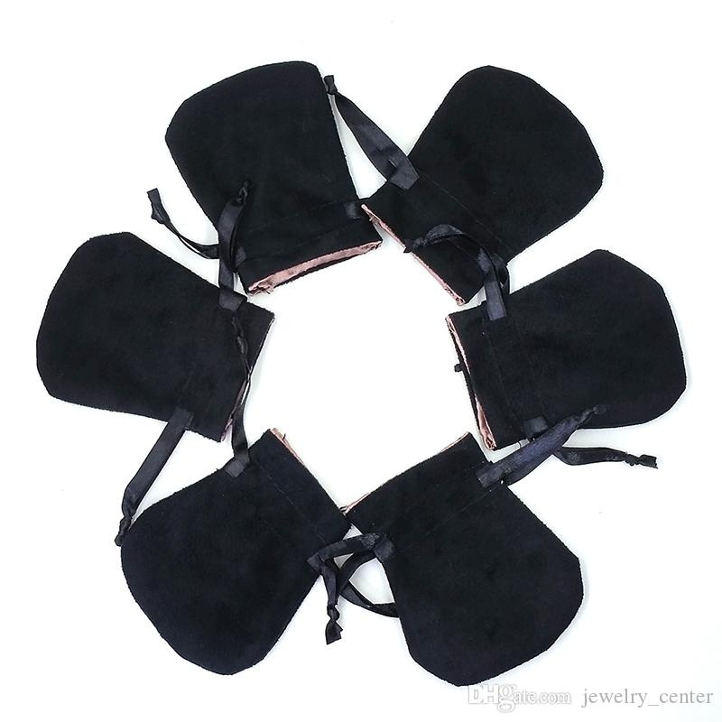 Bolsas de terciopelo blanco negro Ajuste en forma de joyería de Pandora EURBOLAJE PAQUETES DE PAQUETES DE PULSOS Y PUESTIELES COLLATES JOYERÍA MODA MODA BOLES COLVANTES