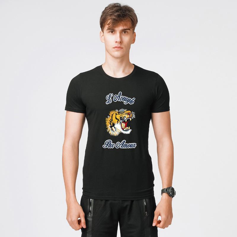 d0db395e8 2018 Hot Sale T Shirt Summer Casual Short Sleeve Stretch Designer Shirt Mens  Slim Crew Neck Korean Tide Cotton Jersery Tee Large Size M 5XL Random T  Shirts ...