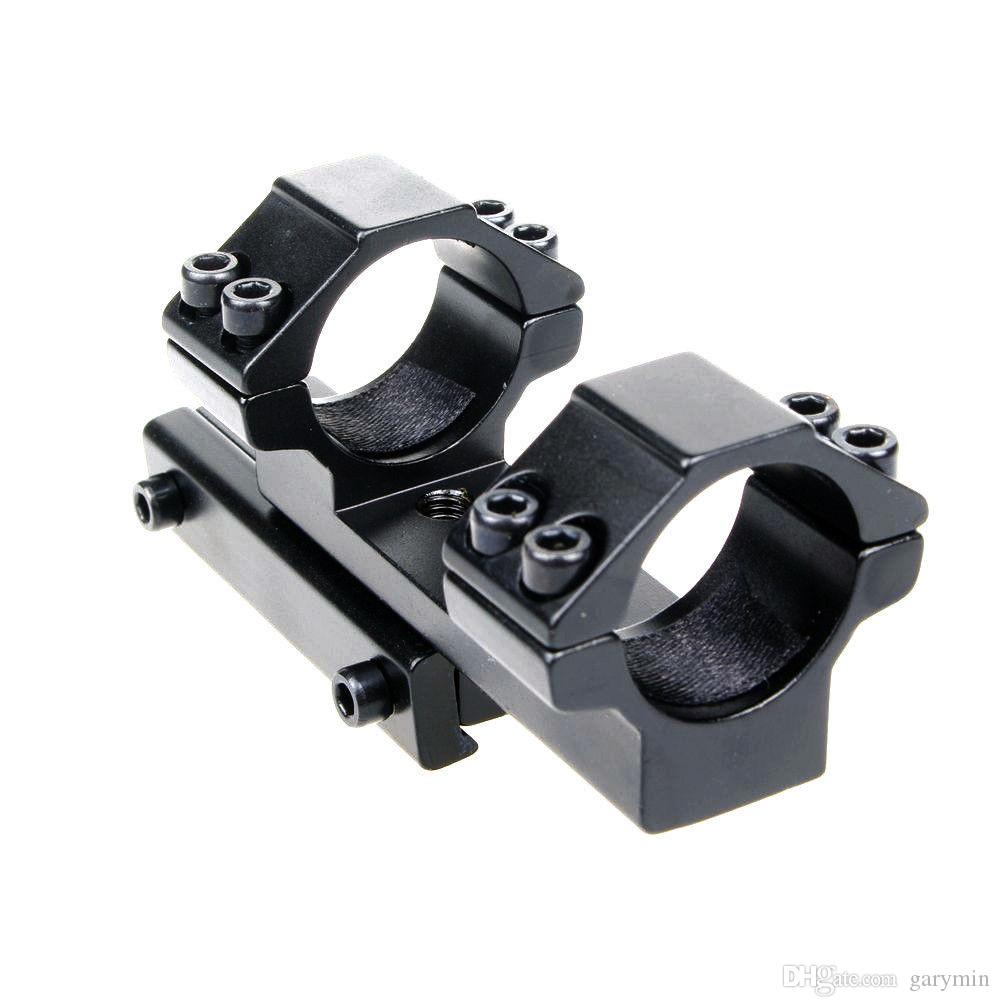 Anillo de 25,4 mm de estilo extendido 11 mm Montura de cola de milano Rifle Scope Mount Black ht640