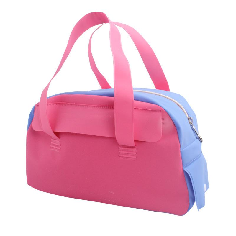 Women Pink Nylon Waterproof Bags New Lovely Girl Multipurpose Gym ... 670f929e1ddc7