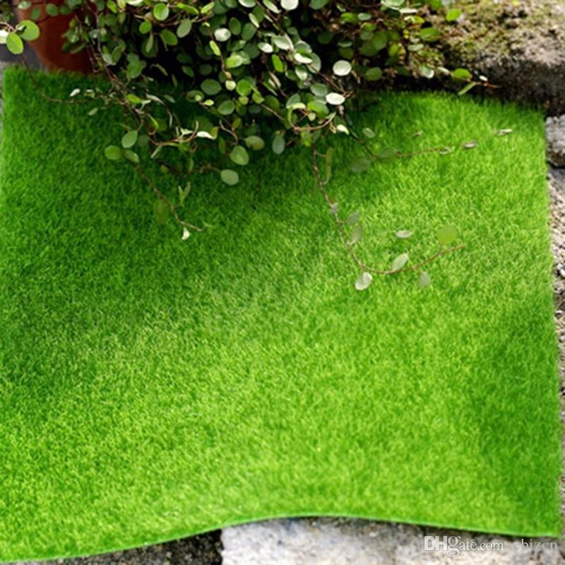 Lawn Miniature Turf Green Grass Micro Landscape Decoration DIY Mini Fairy Garden Simulation Plants Artificial Fake Moss Decorative
