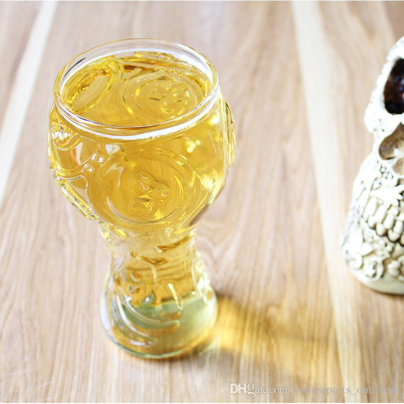 Glass Cup Party Creative Drinking Glass Authentic 3D Wine Glasses Mug Bar Whiskey Glasses for 2018 World Cup Russian Football Gothic